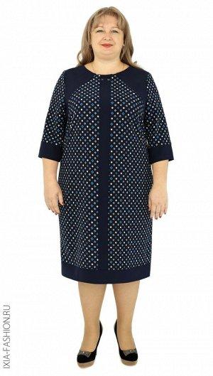 Платье Платье из вискозы-стрейч, длина 103 см, свободного покроя.