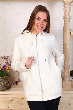Куртка (толстовка) удлиненная с капюшоном