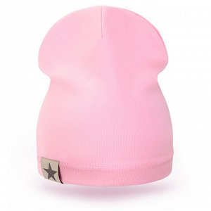 Шапка детская трикотаж розовый