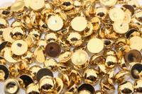 Полубусины под жемчуг (золото) 10 мм в упаковке 50 шт.