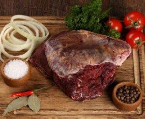 Мясная обрезь (щеки) говяжья. Субпродукт мясной заморож., мякотный, ар.53013