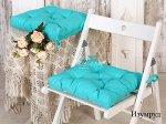 Набор подушек для стула Адель цв.изумруд, 45*45см 2шт, бязь, файбер