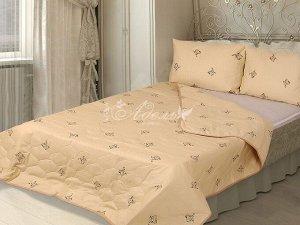 """Одеяло """"Овечья шерсть"""" стеганое облегч. тик 140*205 (плотность 150г/м2)"""