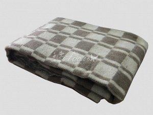 Одеяло полушерстяное Эконом  620 гр/м2 клетка 140х205