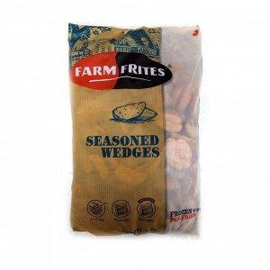 Картофельные дольки, со специями/Seasoned Wedges, Фарм Фритес, 2500 г, (4)