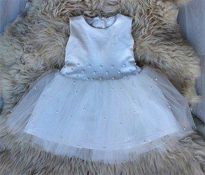 Платье «Бусинка» МОЛОКО