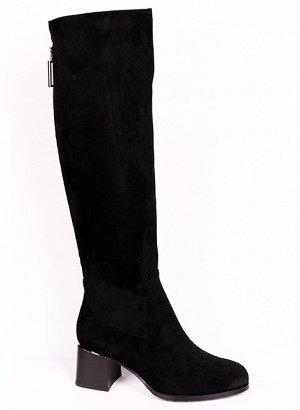 0Z0104-01-1А черный (Текстиль/Иск.мех) Сапоги женские
