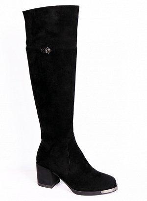 0Z0203-01-1А черный (Текстиль/Евромех.иск ) Сапоги женские