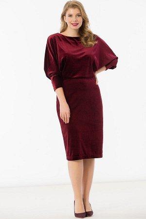 Платья бордовый