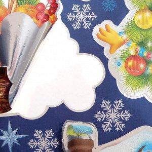 """Набор наклеек на окна """"Чудесный Новый год"""" металлизация, 24 х 33,5 см"""