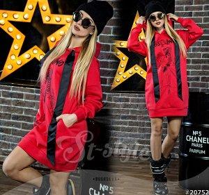 Платье-батник с капюшоном 20752