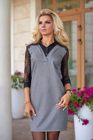 Платье комбинированное 7785