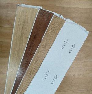 Покрытие Покрытие на пол.Размеры 15,2*91 см, толщина 1.5 мм Плитка покрытие на пол, ПВХ, беззамковая, на клеевой основе. При выборе цвета ориентируйтесь на фото с номерами. Восприятие цветовой палитры