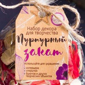 """Набор природного декора """"Пурпурный закат"""""""