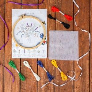Вышивка на пяльцах «Летний букет». Набор для творчества