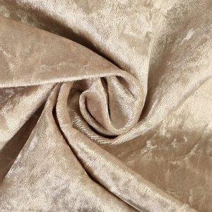 Плюш винтажный 50х50см, холодный беж 100% п/э