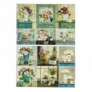 Набор декупажных карт 6 шт «Домашний сад»