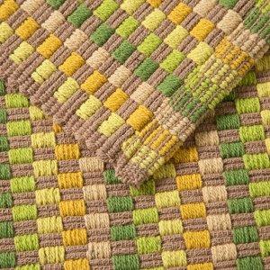 Ковер GRID. 50 х 80 ± 3 см. цвет зеленый/желтый.
