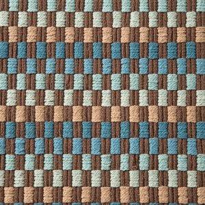 Ковер GRID. 50 х 80 ± 3 см. цвет синий/черный.