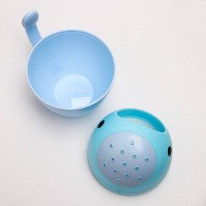 """Ковш для купания """"Кит"""", цвет голубой"""