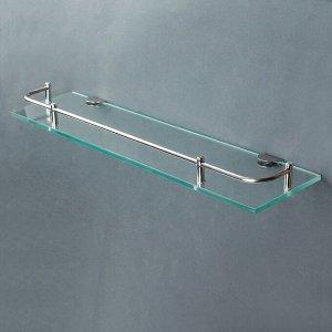Полка для ванной комнаты, 40?11,5?4 см, металл, стекло