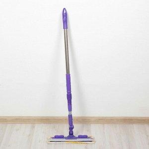 Окномойка с телескопической стальной ручкой и сгоном Доляна, 30?9?90(130) см, микрофибра, цвет МИКС