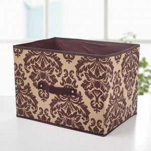 Короб для хранения «Вензель», 37?27?27 см, цвет коричнево-бежевый
