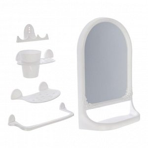 """Набор для ванной комнаты """"Aqua"""", цвет белый"""