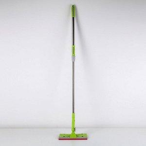 Окномойка с телескопической стальной ручкой и сгоном Доляна, 24?6?70(105) см, цвет МИКС