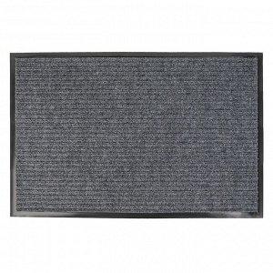 Коврик придверный влаговпитывающий, ребристый, «Стандарт», 50?80 см, цвет серый