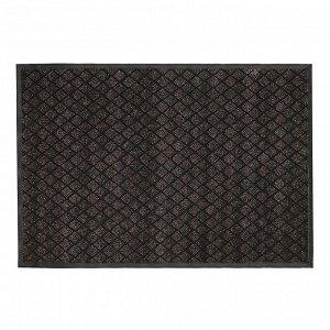 Коврик придверный влаговпитывающий «Галант», 80?120 см, цвет коричневый