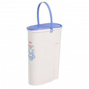 Контейнер для стирального порошка 5 л, цвет бело-синий