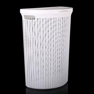 Корзина для белья с крышкой Eco Style, 50 л, 46?26,5?61 см, цвет МИКС
