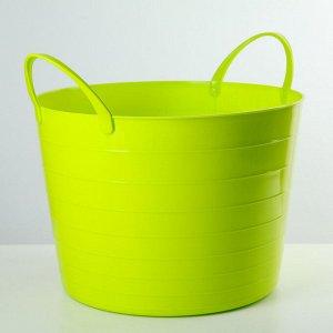 Корзина для белья мягкая IDEA, 17 л, 33?33?24,5 см, цвет ярко-зелёный