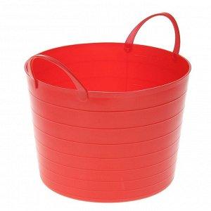 Корзина для белья мягкая IDEA, 17 л, 33?33?24,5 см, цвет красный