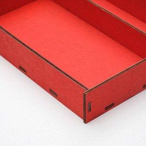 Ящик-коробка «Макарунас», красный, 25,5 х 20 х 4,5 см