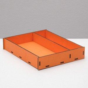 Ящик-коробка «Макарунас», оранжевый, 25,5 х 20 х 4,5 см