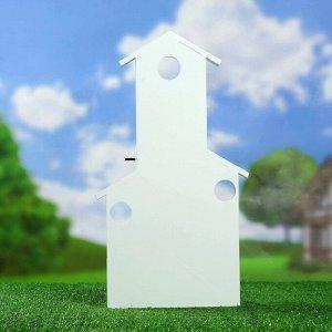 Подставка деревянная со стеклянным кашпо 9*24*41 см