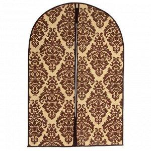 Чехол для одежды (спанбонд) 60х90см, цвет коричнево-бежевый