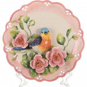 Тарелка настенная декоративная 'птица' диаметр=20 см высота=4 см (кор=24шт.)