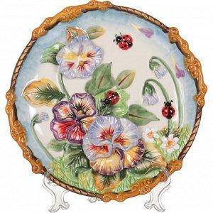 Тарелка настенная декоративная 'весна' диаметр=21 см высота=3 см (кор=24шт.)