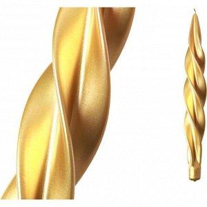 Свеча 'моцарт' металлик золото высота=32 см (кор=8шт.)