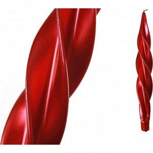 Свеча 'моцарт' металлик красный высота=32 см (кор=8шт.)
