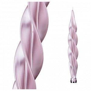 Свеча 'моцарт' металлик розовый высота=32 см