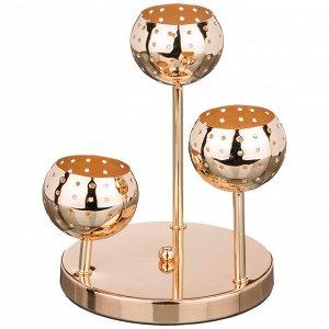 Подсвечник 3-х рожковый диаметр=18 см высота=22 см (кор=12шт.)