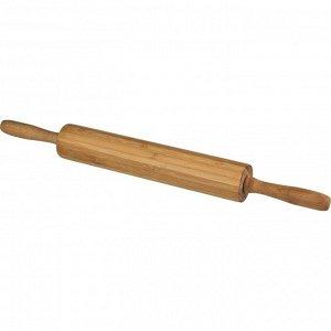 Скалка СКАЛКА ВРАЩАЮЩАЯСЯ AGNESS 44,5/4,5*4,5 СМ (КОР=12ШТ.)  Материал: Бамбук Скалка ТМ AGNESS – отличный выбор! Скалка - необходимая кухонная утварь для раскатки теста любой толщины. УДОБНЫЕ ВРАЩАЮ