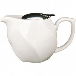 Заварочный чайник 750 мл. белый (кор=16шт.)