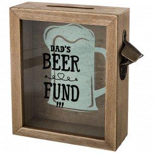 """Копилка для пробок """"фонд папиного пива"""" 21*22*7 см без упаковки (мал-4/кор=16 шт.)"""