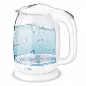 Чайник ЧАЙНИК HOTTEK HT-960-008  Материал: Стекло/Пластик Чайник HT-960-008 – незаменимая вещь на кухне! Стеклянный корпус имеет приятный внешний вид, также он позволяет контролировать уровень воды в