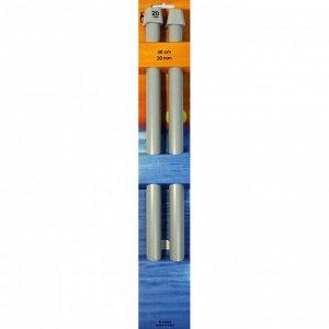 34672 PONY Спицы прямые 40 см 20.00 мм, пластик